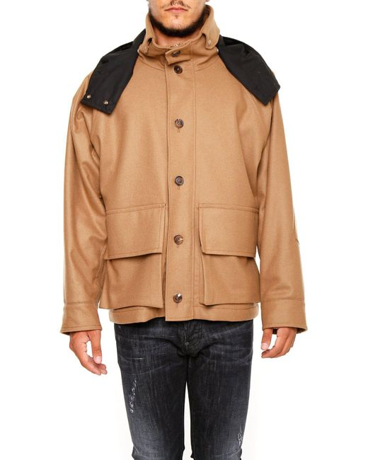 Marni - Natural Hooded Military Jacket for Men - Lyst