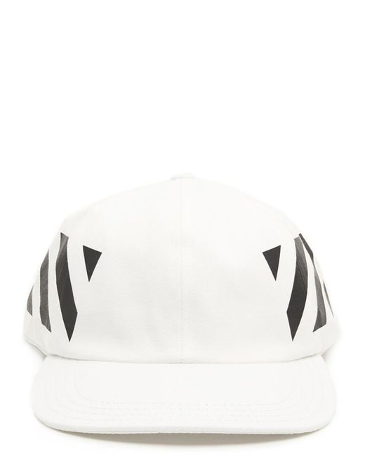 1e44a8657d4 Lyst - Off-White c o Virgil Abloh Diagonal Baseball Cap in White for ...