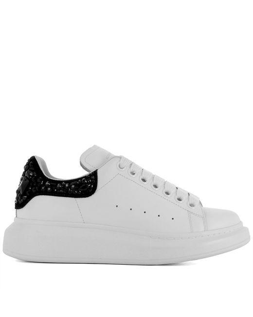 Alexander McQueen - White Jewel Detail Sneakers - Lyst