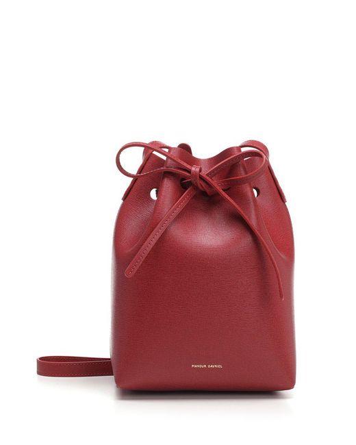 Mansur Gavriel - Red Mini Bucket Bag - Lyst