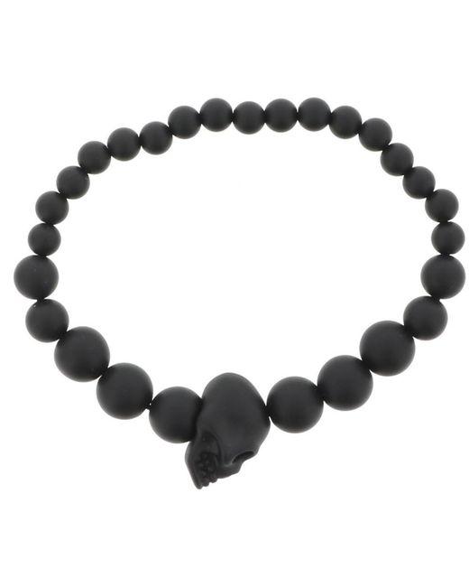 Alexander McQueen - Black Skull Bead Bracelet for Men - Lyst