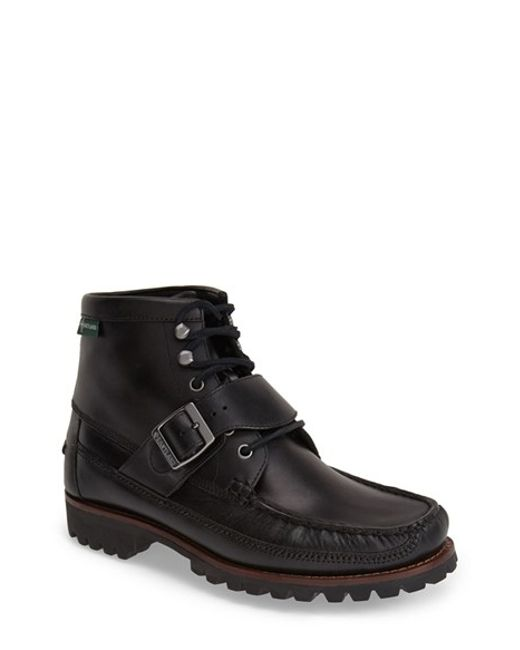 Eastland | Black 'silverado 1955' Leather Moc Toe Boot for Men | Lyst