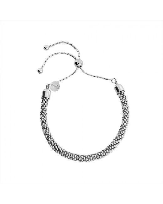 Azendi | Metallic Silver Adjustable Popcorn Chain Bracelet | Lyst