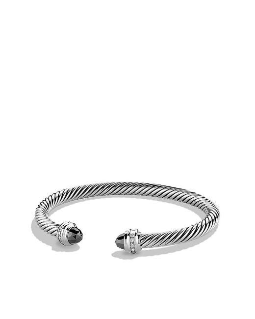 David Yurman | Metallic Cable Classics Bracelet With Hematine And Diamonds, 5mm | Lyst