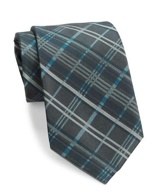 Calvin Klein | Green Plaid Silk Tie for Men | Lyst
