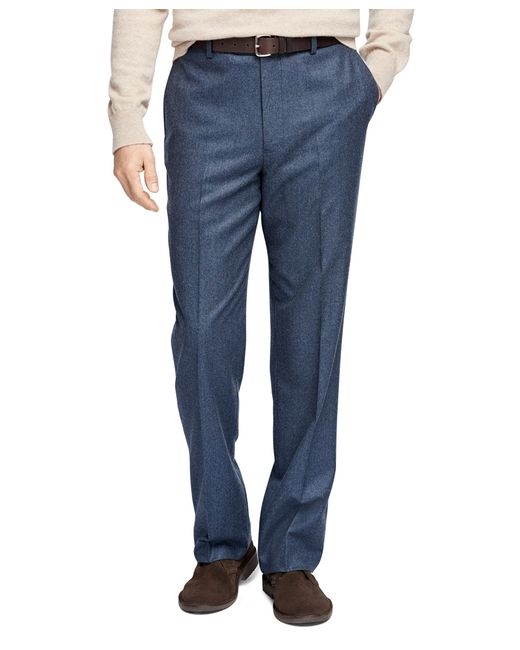 Brooks Brothers | Blue Madison Fit Flannel Trousers for Men | Lyst