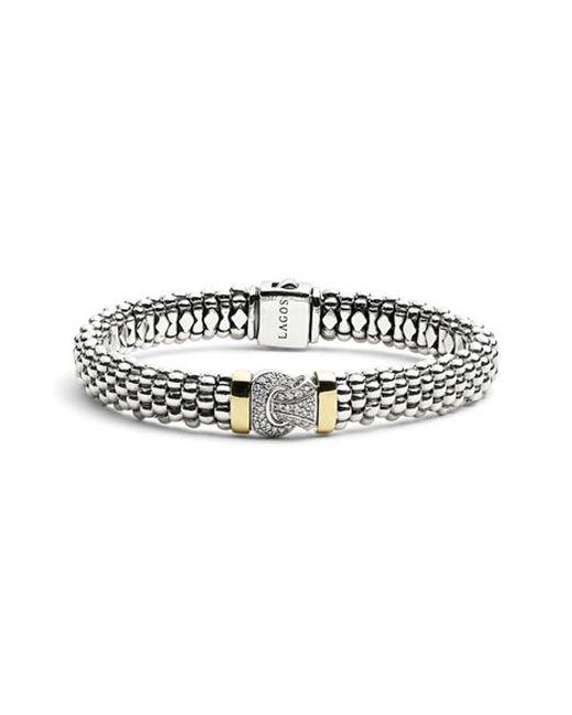 Lagos | Metallic Diamond & Caviar Rope Bracelet | Lyst