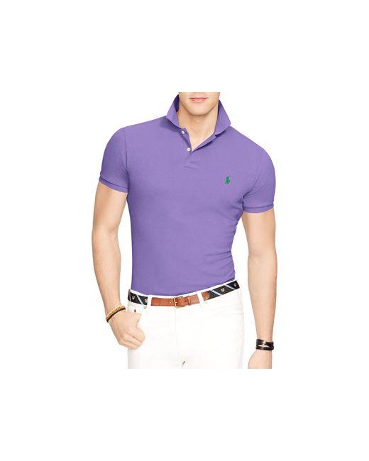 Polo Ralph Lauren | Purple Slim Fit Mesh Polo Shirt for Men | Lyst