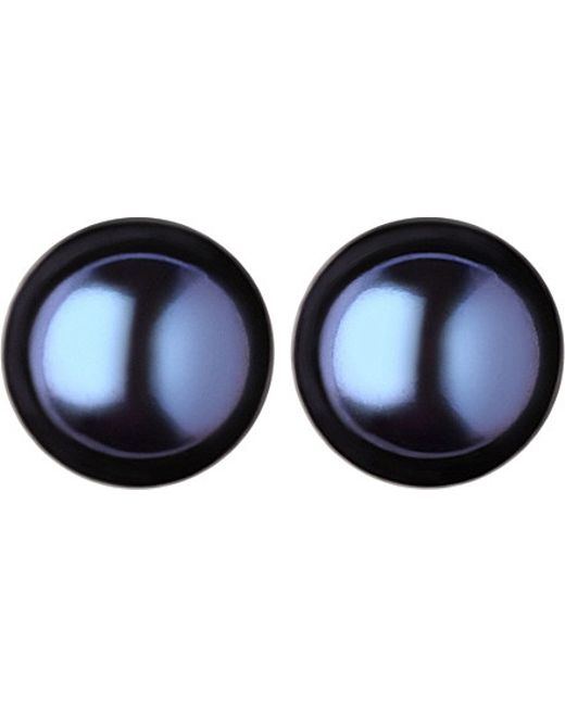 Links of London | Effervescence Large Black Pearl Stud Earrings | Lyst