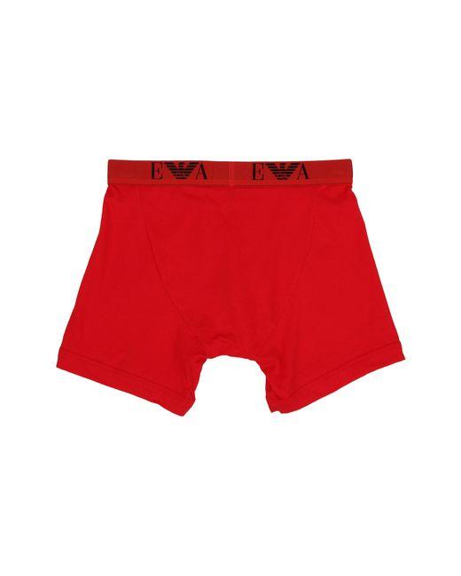 Emporio Armani | Red 3-pack Cotton Boxer Brief for Men | Lyst