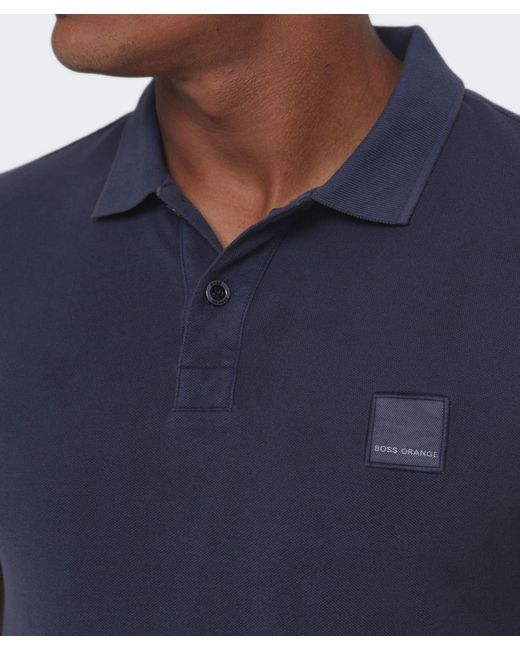 BOSS Orange | Blue Slim Fit Pascha Polo Shirt for Men | Lyst