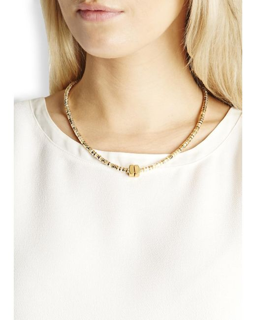 Alice Menter   Metallic Delphi Gold And Silver-plated Necklace   Lyst