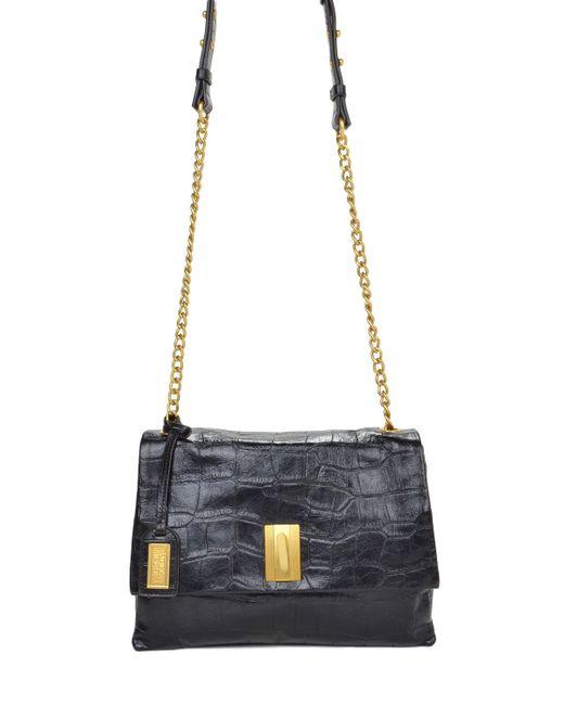 Badgley Mischka | Metallic Mila Croco Handbag | Lyst