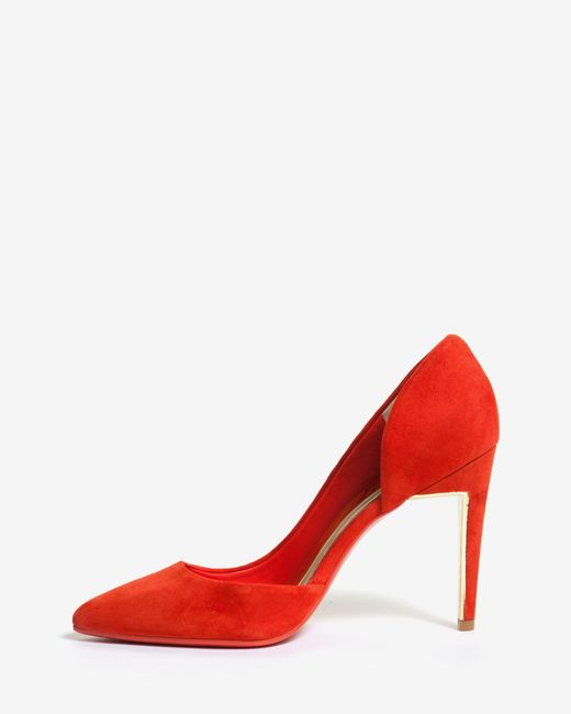 Ted Baker | Orange Cut Out Suede Court Shoes | Lyst