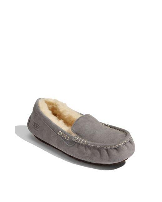 Ugg | Gray Ugg 'ansley' Water Resistant Slipper | Lyst