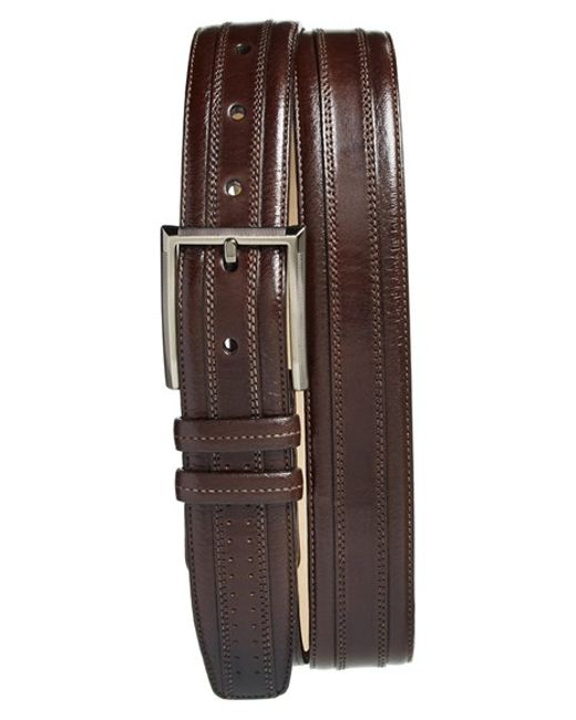 Mezlan | Brown 'diver' Leather Belt for Men | Lyst