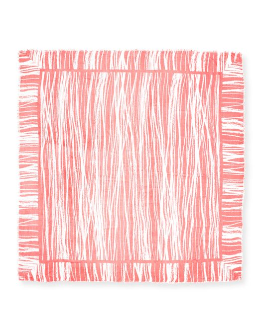 Michael Stars | Pink Pencil Marks Square Scarf | Lyst