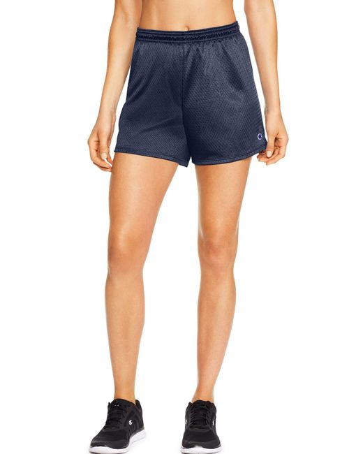 Champion - Blue Mesh Shorts - Lyst