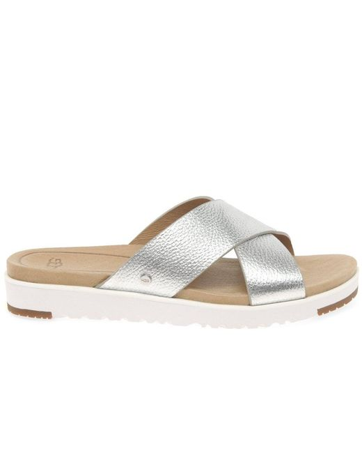 cffb19d88e7 UGG Kari Metallic Womens Mule Sandals in Metallic - Lyst