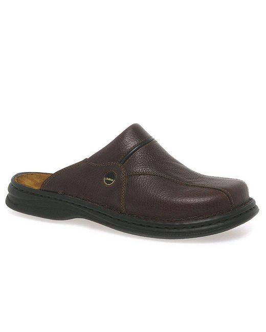 Josef Seibel - Brown Klaus Classic Leather Mens Mules for Men - Lyst