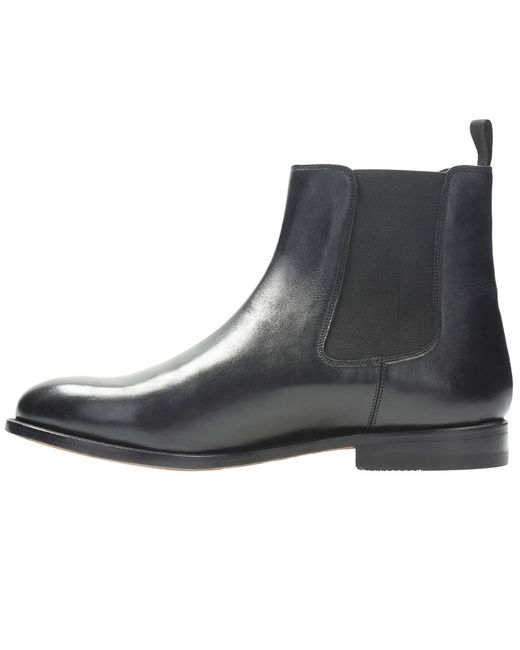 ... Clarks - Black Ellis Franklin Mens Chelsea Boots for Men - Lyst ...