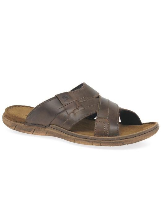 Josef Seibel - Brown Paul 29 Cross Mens Mules for Men - Lyst