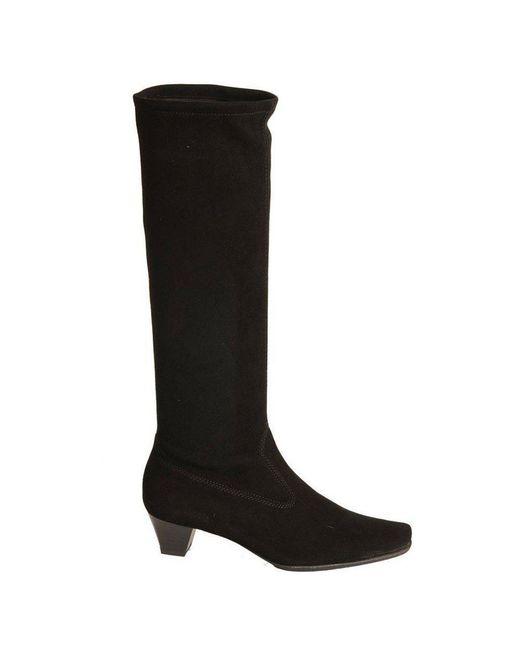 Peter Kaiser - Black Aila Suede Long Boots - Lyst