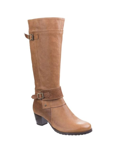Hush Puppies - Brown Devereux Womens Mid Heeled Knee High Boots - Lyst