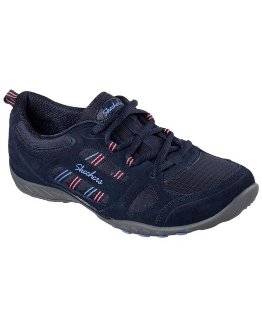 Skechers - Blue Breathe Easy Good Luck Womens Casual Sports Trainers - Lyst