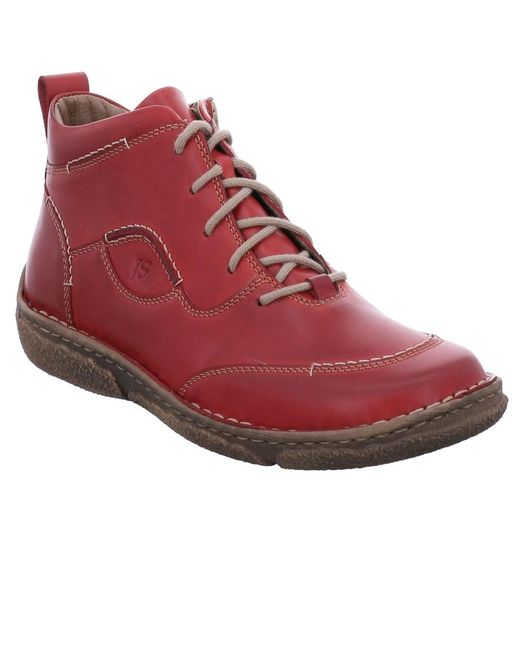 Josef Seibel - Red Leather 'neele 34' Women's Ankle Boots - Lyst