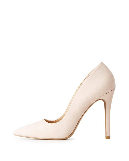 Charlotte Russe - Natural Pointed Toe Pumps - Lyst