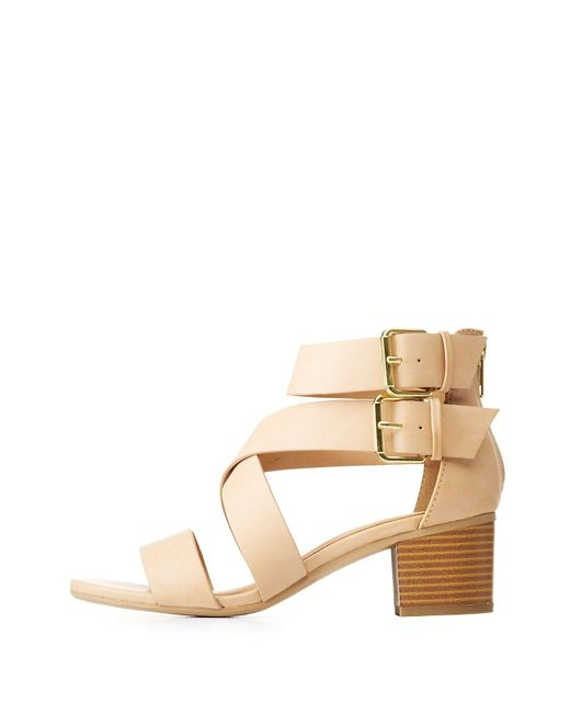 Charlotte Russe - Multicolor Buckled Open Toe Sandals - Lyst
