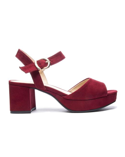 ... Chinese Laundry | Red Kensie Platform Sandal | Lyst