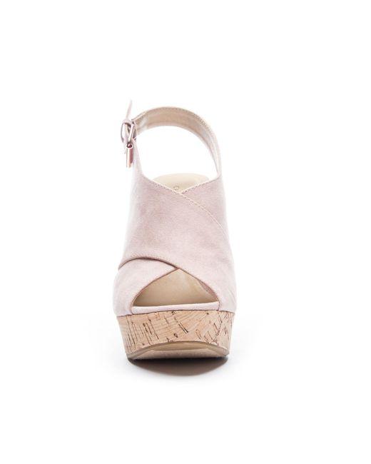 7f17b518107 ... Chinese Laundry - Pink Myya Wedge Sandal - Lyst ...