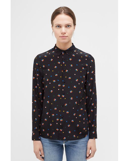 09dc6c68a23 Lyst - Chinti   Parker Black Lucky Clover Silk Shirt in Black