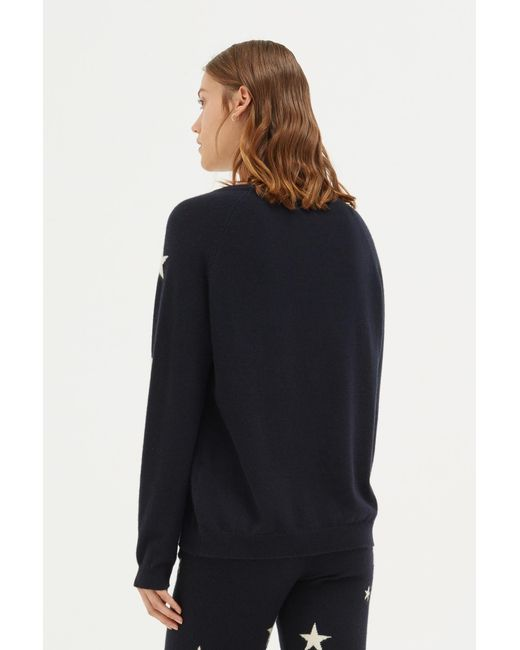 407c0d21a8 ... Chinti   Parker - Blue Navy Slouchy Star Cashmere Sweater - Lyst