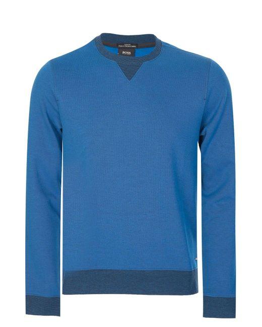6871f58a7 BOSS Hugo Skubic 10 Sweatshirt Blue in Blue for Men - Lyst