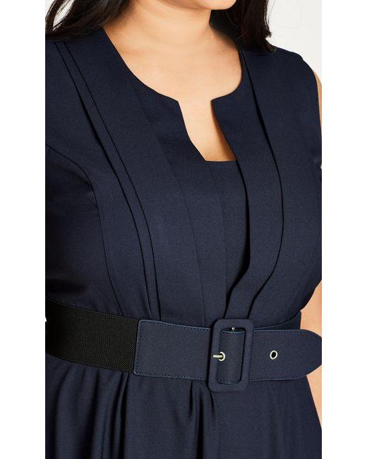 d13d8459d93d ... Lyst City Chic - Blue Navy Vintage Veronica Fit   Flare Dress ...