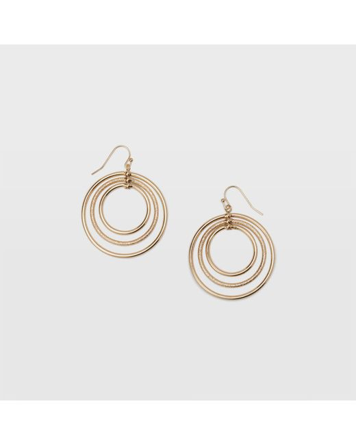 Club Monaco - Metallic Multi Hoop Earring - Lyst