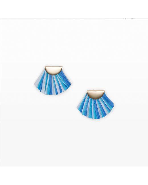 Club Monaco   Blue Raffia Fringe Earring   Lyst