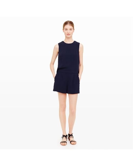 Club Monaco | Black Lyndsey Open-back Romper | Lyst