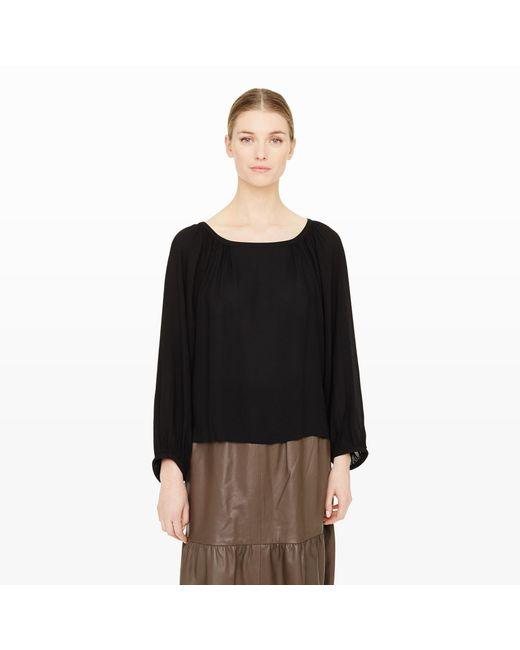 Club Monaco | Black Bryda Top | Lyst