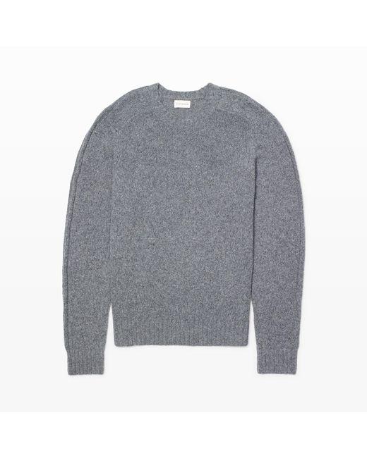 Club Monaco | Gray Washed Wool Crew for Men | Lyst