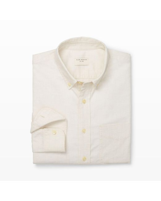 Club Monaco | White Slim-fit Flannel Shirt for Men | Lyst