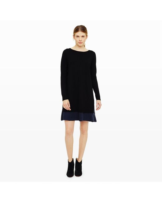 Club Monaco | Black Rigby Layered Sweater Dress | Lyst