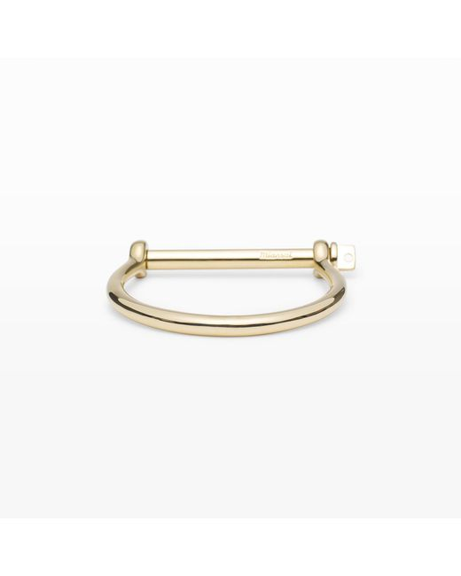 Miansai - Metallic Screw Cuff Bracelet - Lyst
