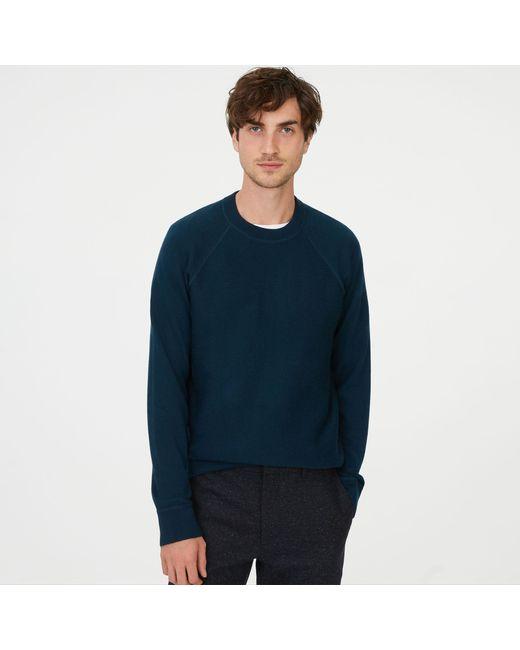 Club Monaco - Blue Twill Stitch Raglan Sweater for Men - Lyst