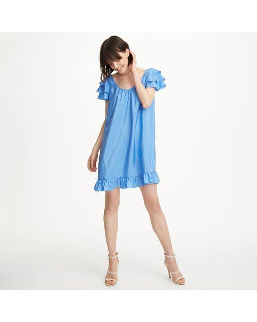 Club Monaco - Blue Vidorus Silk Dress - Lyst