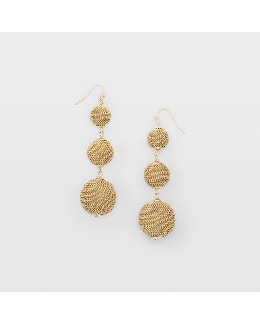 Club Monaco - Metallic Bauble Gold-tone Earring - Lyst