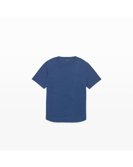 Club Monaco   Blue Short-sleeve Slub Crew Tee for Men   Lyst